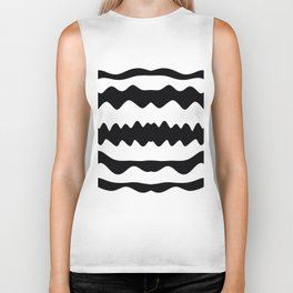 Monochrome Soundwaves Biker Tank