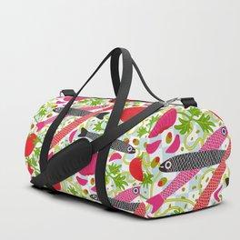 PASTA CON MOLLICA DI PANE Pattern Duffle Bag