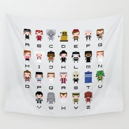 Doctor Who Alphabet Wall Tapestry