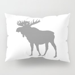 Moose: Grey Pillow Sham