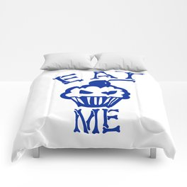 Eat Me (Blue Version) Comforters