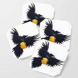 Crow Grabbing Sphere Coaster