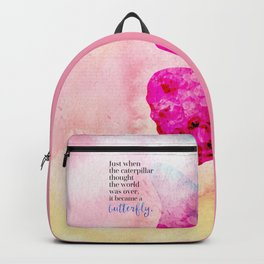 Became A Butterfly Motivational Quote Backpack