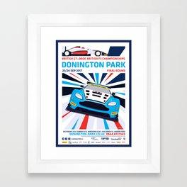British GT and BRDC British F3, Donington Park 2017 Framed Art Print