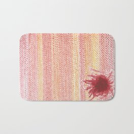 Scribbly Red Flower Bath Mat