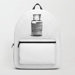 Vintage Heroin Medicine Bottle Backpack