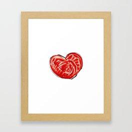 Big love in big heart Framed Art Print
