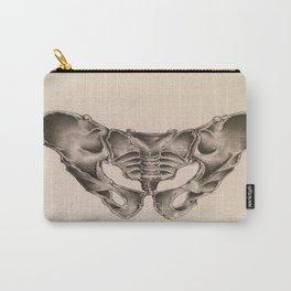 Original Pelvic Bone Pencil Drawing Carry-All Pouch