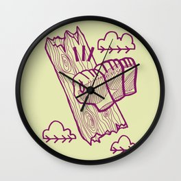knock on wood Wall Clock