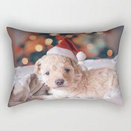 Santa Dog (Color) Rectangular Pillow