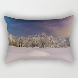 Aurora Sunrise in Snow Antarctica (Color) Rectangular Pillow