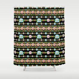 Millefiori Boho Chic Stripe Shower Curtain