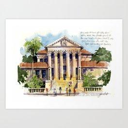 LSU Law School Art Print