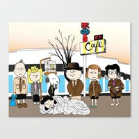 peanuts Canvas Prints featuring Twin Peanuts by Jason Young