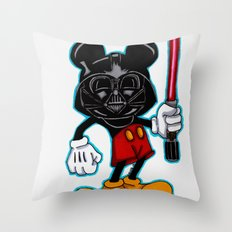Darth Mouse Throw Pillow