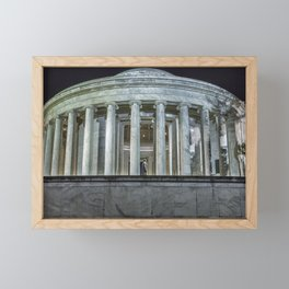 Jefferson Memorial - Side View Framed Mini Art Print