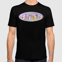 Pastel Vintage Pansies T-shirt