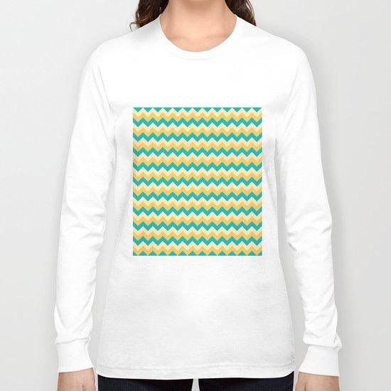 Colorful Chevron Pattern Long Sleeve T-shirt