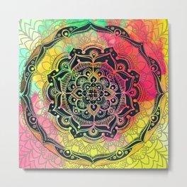 Rainbow Mandala Metal Print