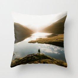 Sunrise in Switzerland Throw Pillow