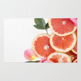 Grapefruit & Roses 04 Rug