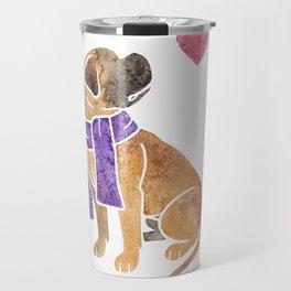 Watercolour Bullmastiff Travel Mug