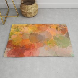 Modern contemporary Yellow Orange Abstract Rug