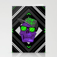 hip hop Stationery Cards featuring Hip Hop 4 life by Mike Karolos