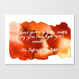 Rebbe Chanukah Quote Canvas Print