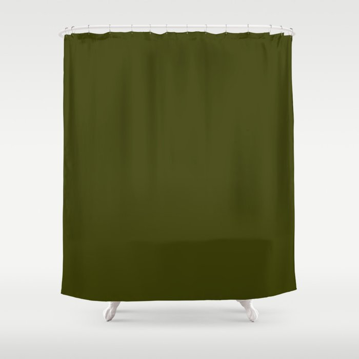 Dark olive Shower Curtain