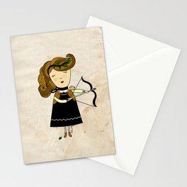 Sagittarius Girl Stationery Cards