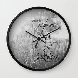 Morning Lamentations 3 Wall Clock