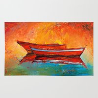 boat Area & Throw Rugs featuring Boat by BOYAN DIMITROV