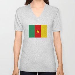 Cameroon country flag Unisex V-Neck
