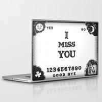 ouija Laptop & iPad Skins featuring Ouija I Miss You by Sarah Hinds