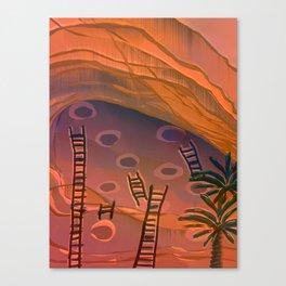 Ancestral Memories, Caves Canvas Print