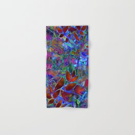 Floral Abstract Stained Glass G174 Hand & Bath Towel