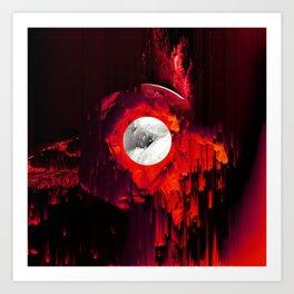 red_lights_black_hover Art Print