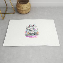 Easter Day Rabbit Dj Party Rug