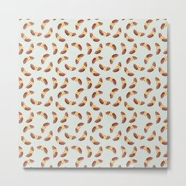 Saucisse de Morteau motif / Morteau sausage pattern Metal Print