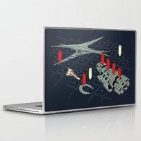 battlestar galactica Laptop & iPad Skins featuring You Sunk My Battlestar by Caddywompus