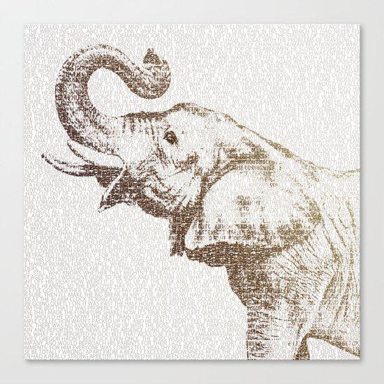 The Wisest Elephant Canvas Print