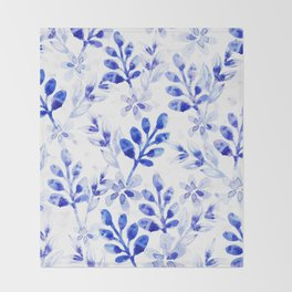 Watercolor Floral VVII Throw Blanket