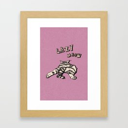 LAZY CAT Framed Art Print