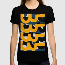 Yellow and blue Zen Abstract Pattern Design T-shirt