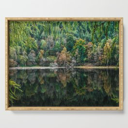 Forest Reflection Serving Tray