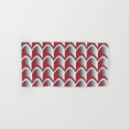 Abstract Red&Grey Pattern Hand & Bath Towel