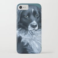 border collie iPhone & iPod Cases featuring Border Collie by MMGoldenArt
