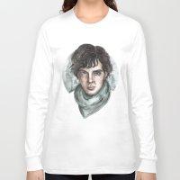 sherlock holmes Long Sleeve T-shirts featuring Sherlock Holmes by ArtEleanor
