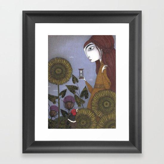 Thirty-eight Leaves Framed Art Print